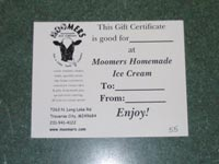 Moomers Gift Certificates